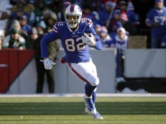 The Lions signed former Buffalo Bills tight end Logan Thomas on Thursday.