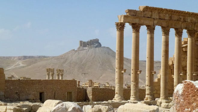 This file photo taken on March 27, 2016 shows part of the ancient Syrian city of Palmyra, after government troops recaptured the UNESCO world heritage site from the Islamic State.