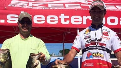 Justin Provenza and Nick LeBrun won the H&W Marine Skeeter event over the weekend with 27 pounds of fish.