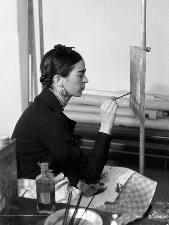 Frida at work