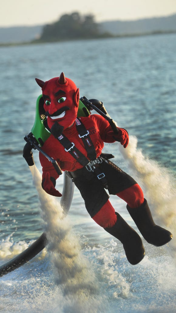 One of the additions to Dewey this summer is the new Dewey Devil mascot for the bar northbeach.