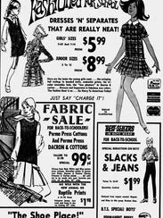 A back to school advertisement that appeared in The