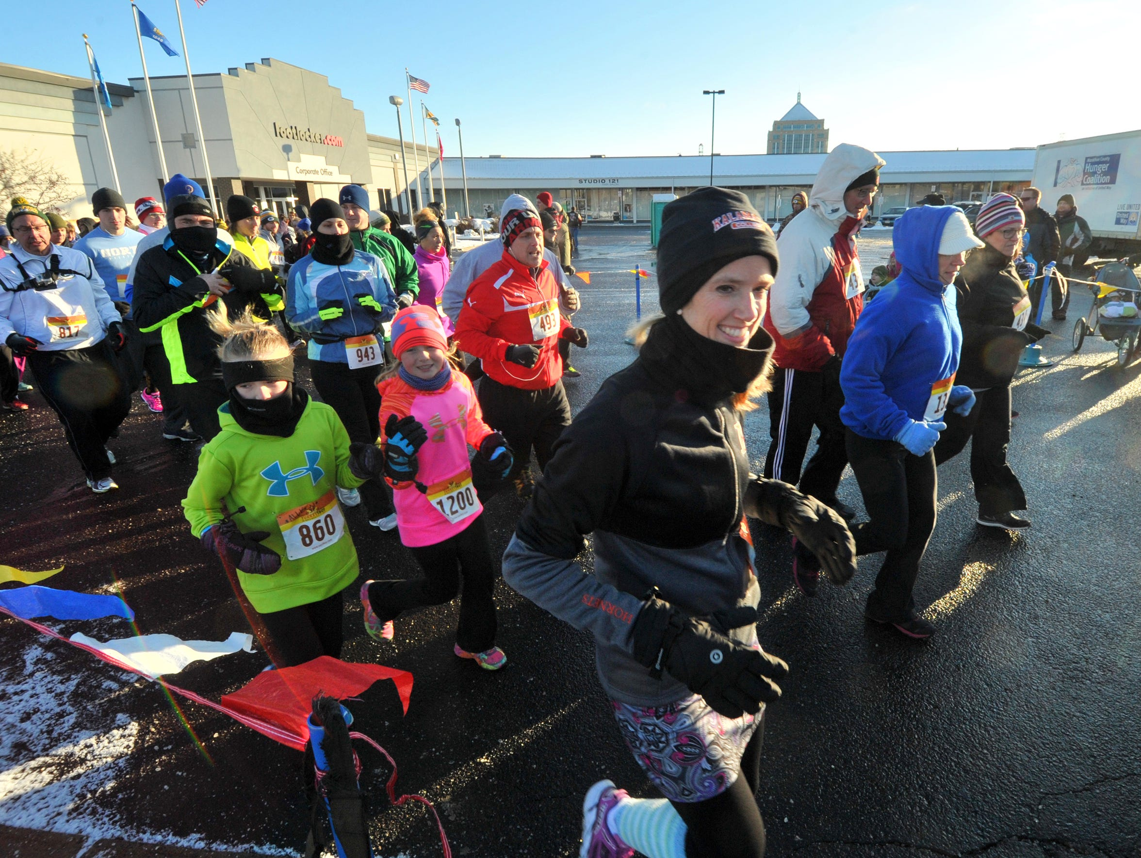 Hundreds of participants run Thursday's fifth annual