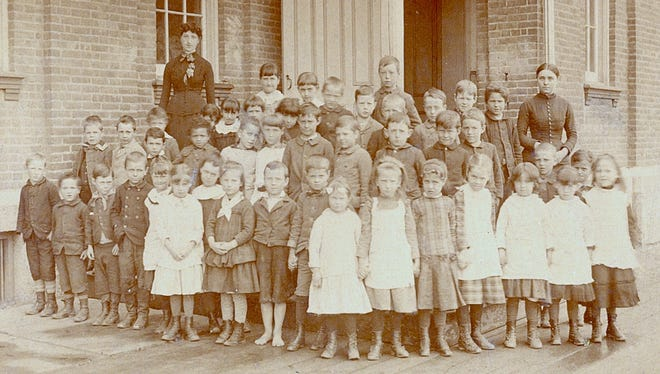 These students attended Beecher Elementary School in 1885.
