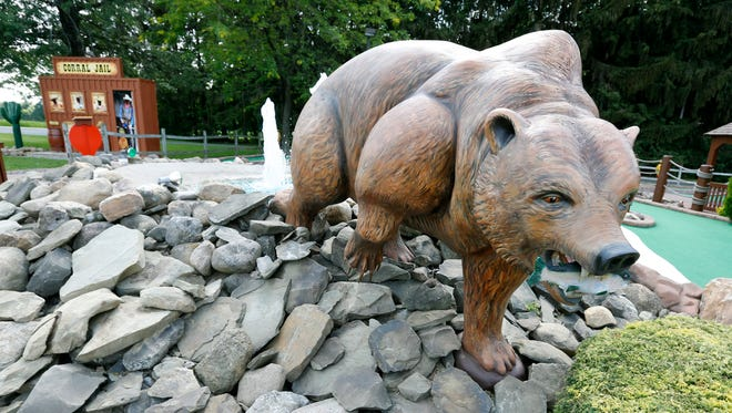 The bear at the Charcoal Corral miniature golf in Perry is one of the new additions.