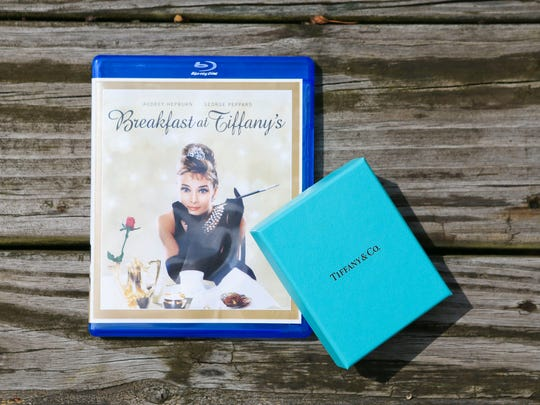 Some of Cheri Brown's favorite movie is the 1961 movie Breakfast at Tiffany's. This one came with the iconic baby blue Tiffany's box.