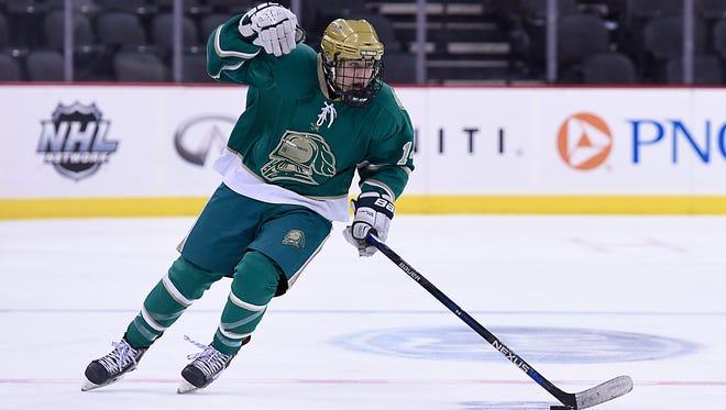 St. Joseph forward Dominick Posta, a 30-goal scorer last winter, is a player to watch for the 2016-17 high school ice hockey season.