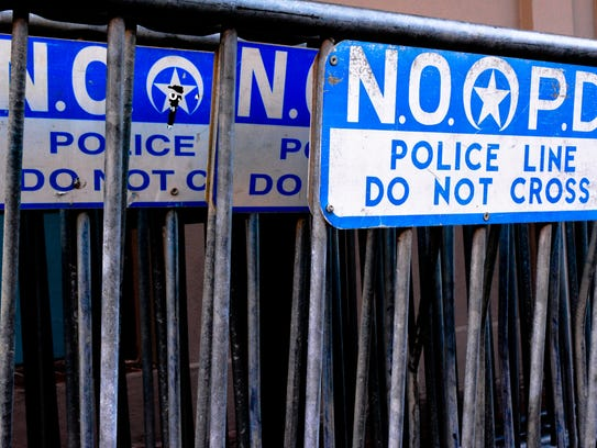 Series of Police Barricades in New Orleans