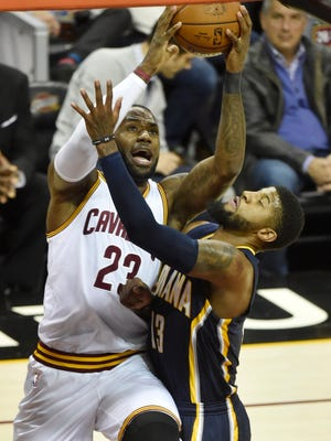 Paul George out-scored LeBron James 43-41, but the Cavs got the win.