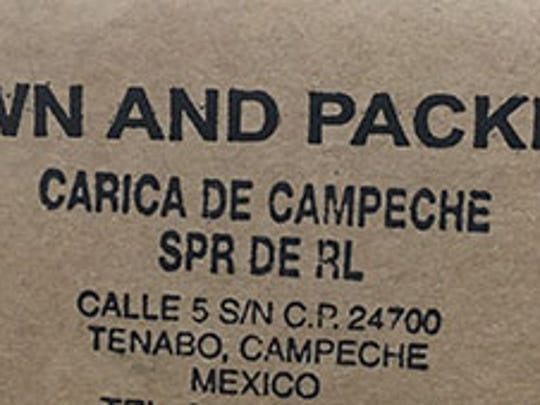 Cavi and Valery brand papayas from Mexico's Carica de Campeche have been recalled after a salmonella outbreak.