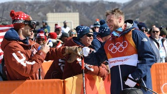 Gus Kenworthy of the USA has adopted a puppy and will take her home from South Korea.