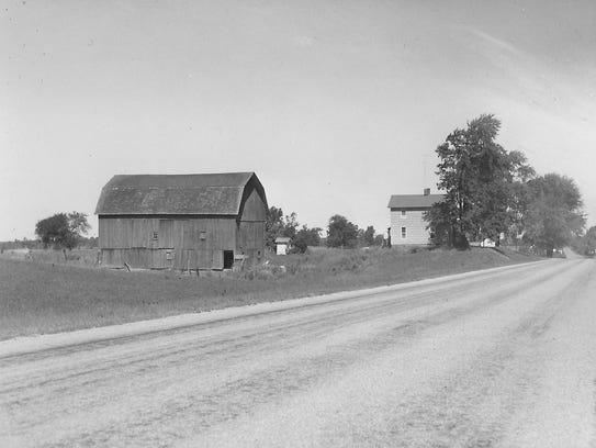 The barn on M-52 in Stockbrige on the Herrick farm
