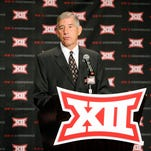 Bowlsby brings up ex-Hawks Greenway and Sanders during his Big 12 defense