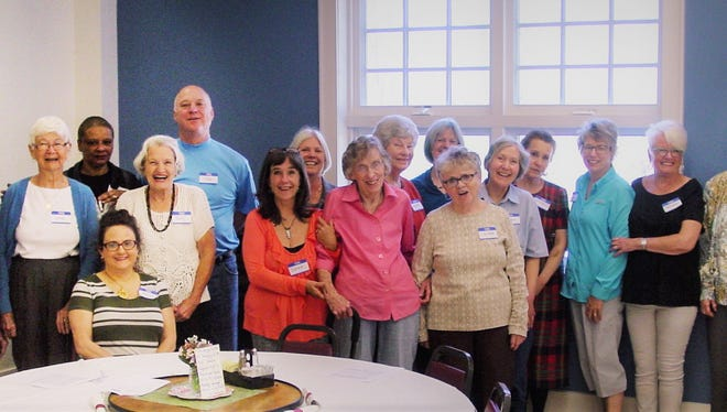 Here are some of the thrift shop volunteers the Kiwanis honored during a recent luncheon.