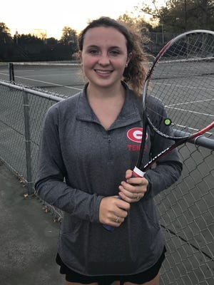 Greenville junior Emma McFall was victorious at No. 3 singles in the Red Raiders' 5-1 win over Daniel in Monday's Class AAAA Upper State final.