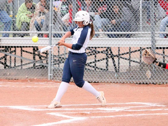 Silver's Makayla Guerra hit a homerun in the second