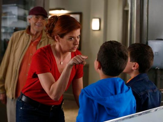 "In ""The Mysteries of Laura,"" Debra Messing is Laura"