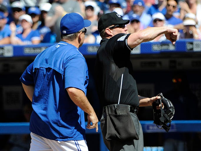 August 2: Blue Jays manager John Gibbons is ejected