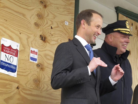 U.S. Attorney for Vermont Eric Miller, left, and Rutland