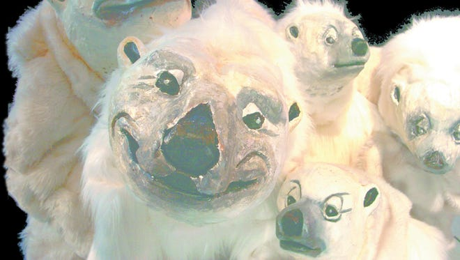 Mime, dance music, special effects and actors dressed as polar bears and other animals are featured in the Imago Theatre production of 'ZooZoo' Tuesday night at San Juan College.