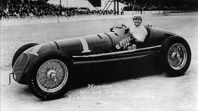WILBUR SHAW seated in the #1 Boyle Special in which he won his third Indianapolis 500 Mile Race. Shaw, the 1937 and 1939 winner started second and finished first.  Rex Mays came in second after starting on the pole.