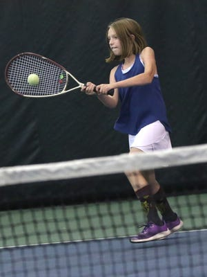 Noel Cline won the girls 12 title in the 85th News Journal/Richland Bank Tennis Tournament at Lakewood Racquet Club