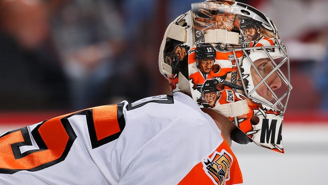 Goalie Steve Mason will join the Flyers in New York Sunday.