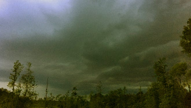 Storm clouds are seen over Mississippi in this file photo.