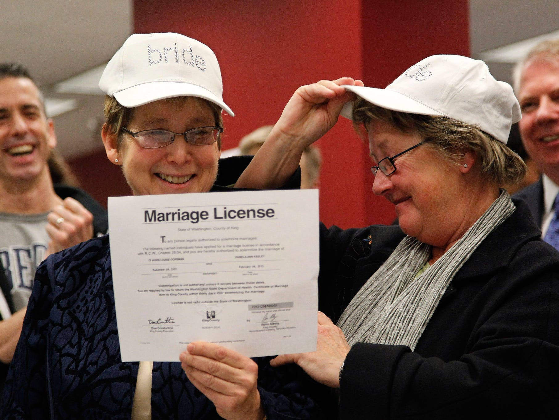 Marriage license for same sex marriages