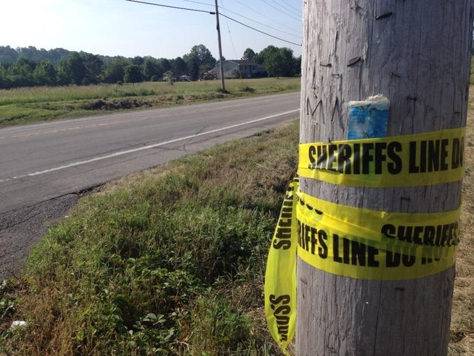 Police tape at the intersection of a fatal crash in Wheatland.