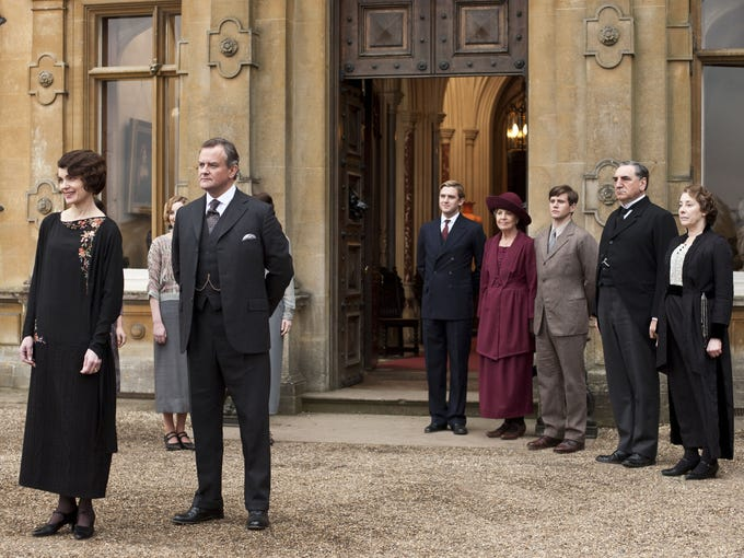 What do our favorite characters have in store for Season 3 of 'Downton Abbey' (Sunday, 9 ET/PT, PBS)? A quick primer (shown here: Elizabeth McGovern as Lady Grantham, Hugh Bonneville as Lord Grantham, Dan Stevens as Matthew Crawley, Penelope Wilton as Isobel Crawley, Allen Leech as Tom Branson, Jim Carter as Mr. Carson, and Phyllis Logan as Mrs. Hughes).