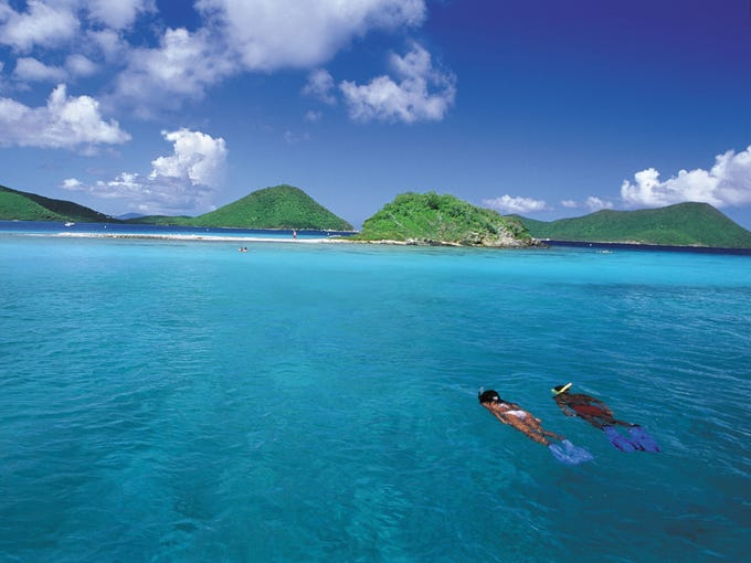 The Eastern Caribbean brings the somewhat mindless fun-in-the-sun experience many cruisers are looking for, like easy going snorkeling off St. Thomas with clear blue waters and coral reefs to explore.