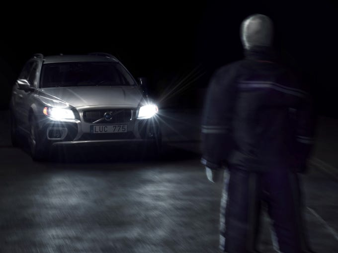 XC90 would have the first system that can detect and brake for pedestrians, cyclists and vehicles in darkness.