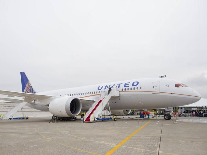 United's first Boeing 787 Dreamliner is unveiled at Boeing's factory in Everett, Wash., on Aug. 2, 2012. It will be the first of the revolutionary new jet to fly for a North American airline.