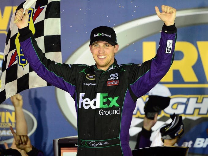 Denny Hamlin enters the 2012 Chase for the Sprint Cup as the No. 1 seed. Hamlin recorded four wins and 11 top-five finishes in the regular season.