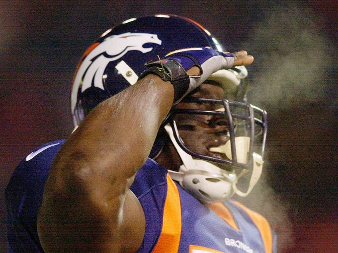"10. Mile High Salute (Denver Broncos): Terrell Davis didn't invent the salute as a tribute to his father, as is commonly thought. ""Running backs are pretty tough guys,"" he explained on NFL Network in 2009, ""so I like to think that we're soldiers."" Comparing football players to soldiers bumps this celebration to the bottom of the list."
