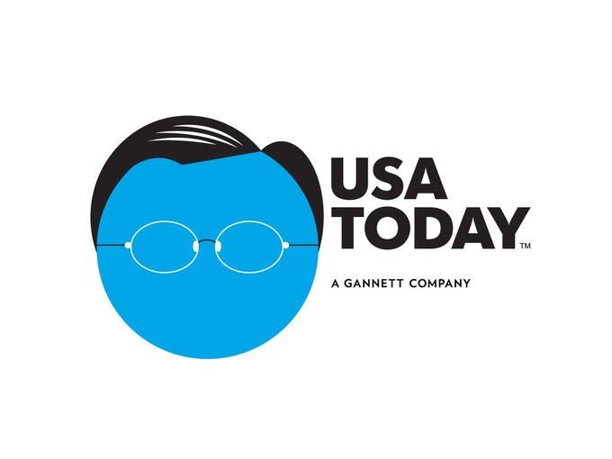 """Stephen Colbert took a swipe at USA TODAY's new circular logo on Tuesday, joking that we could only cover news that was """"circular in nature."""" He said we could never put other shapes – SpongeBob SquarePants, the Pentagon or a triangular Dorito – in our circular logo. Here you are, Stephen…"""
