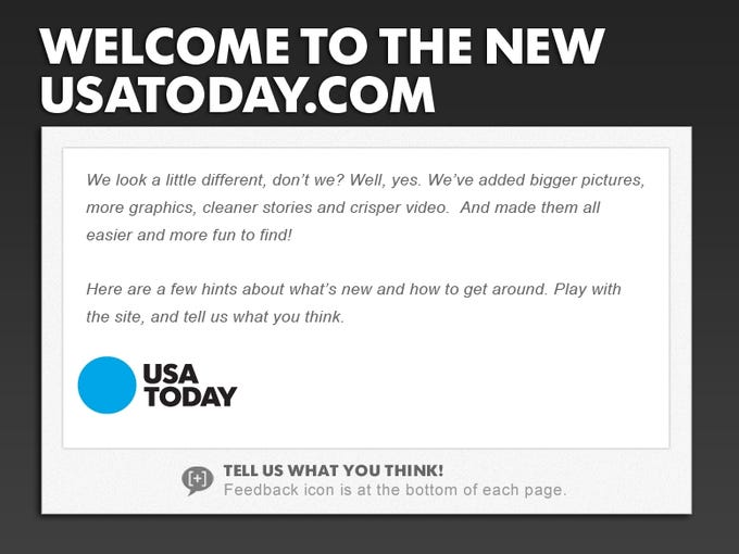 Welcome to the new USATODAY.com