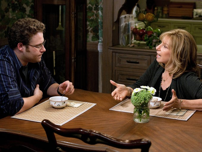 "In a moment of weakness, Andy Brewster (Seth Rogen) asks his widowed mom (Barbra Streisand) to join him on a work-related cross-country road trek in <i>The Guilt Trip</i>. The reason director Anne Fletcher chose this comedy as her follow-up to 2009's <i>The Proposal</i>? ""It's a love letter to my mom, with all the things I couldn't say to her face,"" she tells USA TODAY's Susan Wloszczyna."