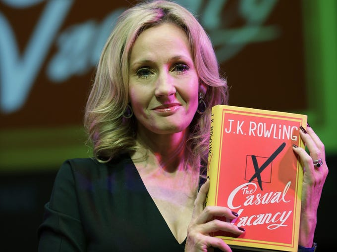 <i>The Casual Vacancy</i>, J.K. Rowling's first book for adults, was released to much fanfare last Thursday, Sept. 27. This Thursday, the novel will make its debut at No. 1 on USA TODAY's Best-Selling Books list.