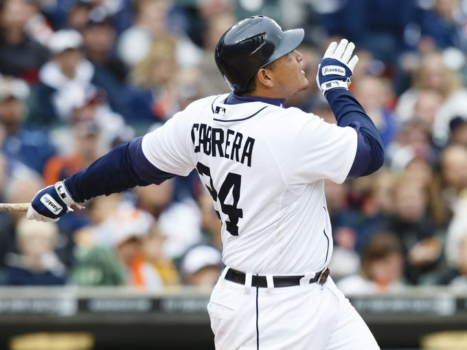 Detroit Tigers slugger Miguel Cabrera became the first player in 45 years to win baseball's Triple Crown (.330 BA, 44 HR, 139 RBI), and only the 14th player in history. Past winners:
