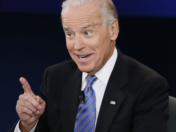 Vice President Joe Biden answers a question during the vice presidential debate.