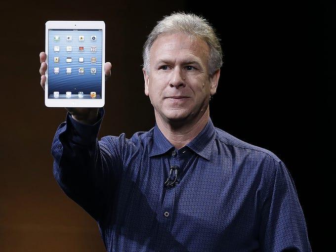 Phil Schiller, Apple's senior vice president of worldwide product marketing, introduces the iPad Mini on Oct. 23 in San Jose, Calif.