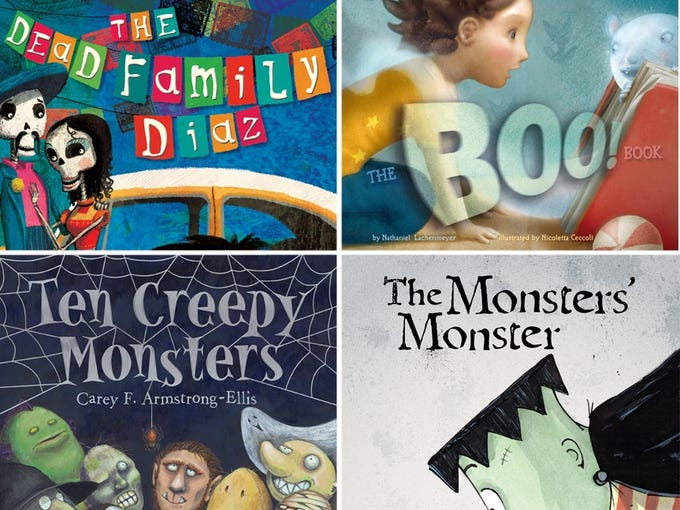 Can't trick-or-treat because of Hurricane Sandy? Enjoy Halloween inside with your children with these four festive picture books.