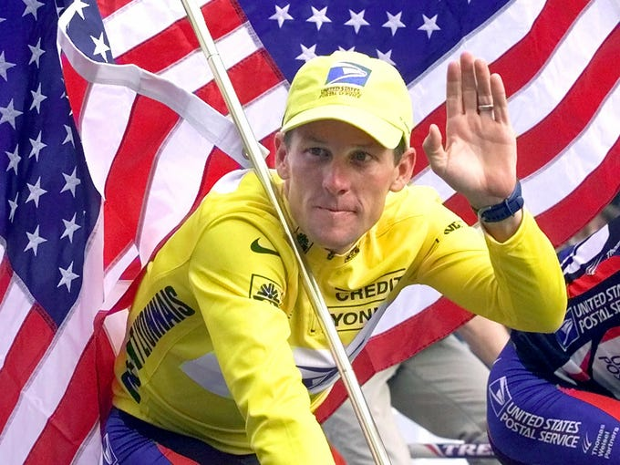 (10) Lance loses. Armstrong's name -- once the epitome of competition and human potential -- turned into a disgrace, as he gave up on fighting the doping allegations levied against him even as his former teammates produced tale after tale of his role in cycling's competitive corruption. His foundation lives on -- and the people he inspired may insist on always remembering him for bigger things than cycling -- but without his name attached.