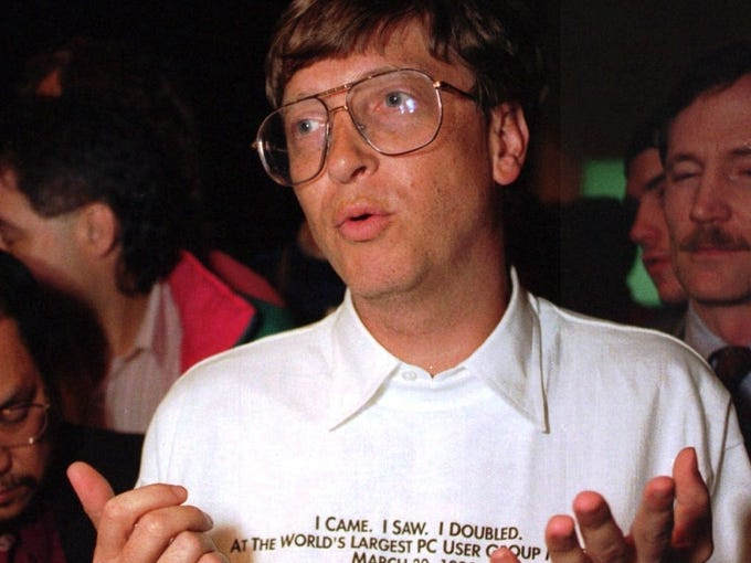 With the release of Windows 8, Microsoft continues more than three decades of making operating systems. Here, Bill Gates answers questions after unveiling MS-DOS 6.0.