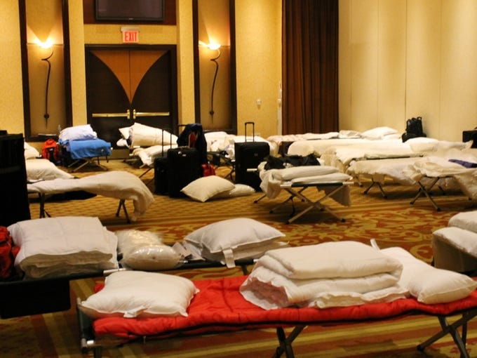 Staten Island Hotel Shelters Victims Of Sandy