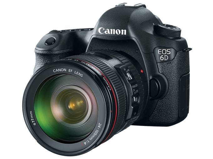 Canon's 6D SLR (due out in December; $2,100) has built-in Wi-Fi and can connect to an app to transmit photos.