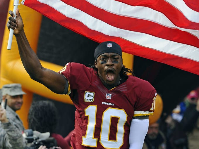 <b>1. Griffin rises:<br /> </b><br /> Robert Griffin III set a franchise-record completing 14-of-15 (93.3%) of his passes in Sunday's 31-6 laugher over the Eagles, who have now lost six straight. Washington came off its Week 10 bye with a vengeance and now, RG3 has the Redskins thinking crazy playoff thoughts.