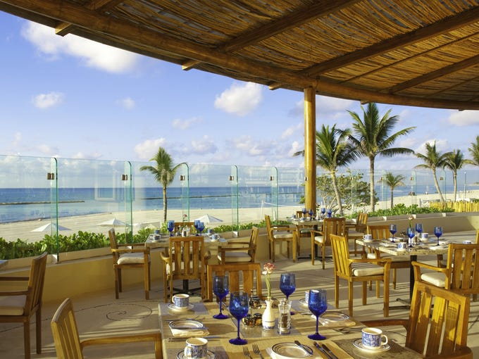 Grand Velas Resort Riviera Maya (Riviera Maya, Mexico): Set on more than 80 acres of protected mangroves, jungle, and freshwater wells, Grand Velas Resort Riviera Maya is a five-minute drive from downtown Playa del Carmen. Travel consultant Ellen Paderson describes Grand Velas as 'very upscale,' with '5-star dining.' The resort has 15 restaurants and bars, including Cocina de Autor by Bruno Oteiza and Mikel Alonso, which serves haute Spanish cuisine like fig and foie gras with grilled milk. Chef Ricardo de la Vegas' crispy candied suckling pig tacos cooked in banana leaves, pineapple, and spring onion at Frida are a must-try. Other restaurant offerings include Piaf (French), Sen Lin (Asian), Lucca (Northern Italian), Azul (International), Bistro (French brasserie), Chak (organic desserts, wines, and coffee) plus 24-hour room service and five bars, including a karaoke bar.